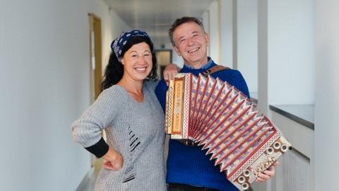 Zu Gast im BR-Heimatstudio für die Sendung »Stofferls Wellmusik«: Conny Kreitmeier und Christoph Well, 2018